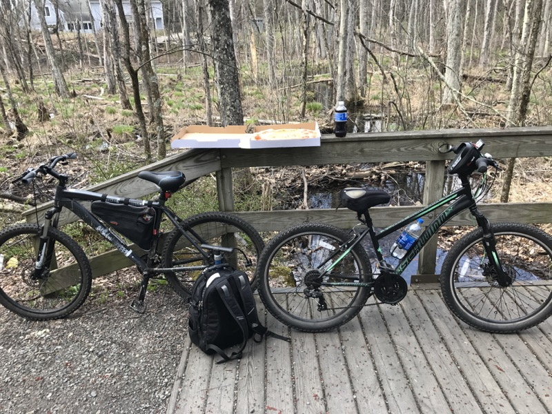 Pizza on The O & W Rails to Trails in NY